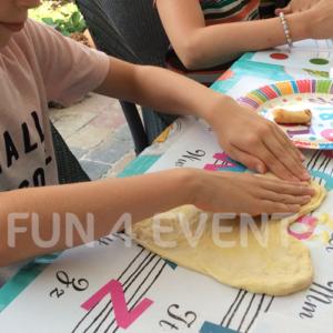 maak je eigen pizza op je kinderfeestje