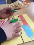 zandkleurplaat kleuren met aan